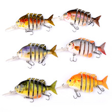 1pcs 10CM 14G Swimbait Fishing Lure 3D Eyes Multi-section Quality Hard Artificial Lures Tackle Minnow Accessories