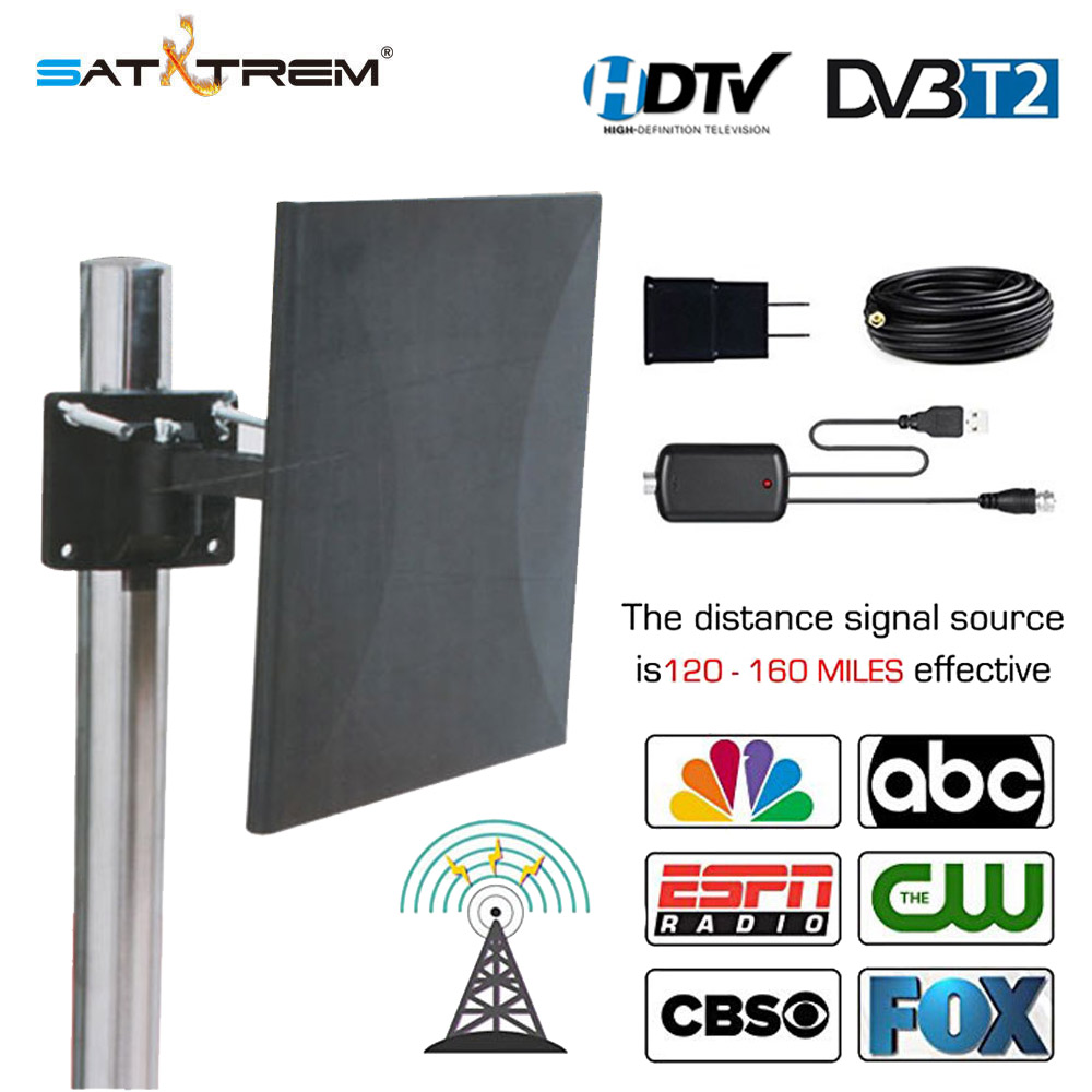 Lange Palette DVB T2 <font><b>TV</b></font> Antenne <font><b>Outdoor</b></font> Indoor 160 Miles Multi Directionnelle Exterrieur 4K 1080P HD Digitale Verstärkt <font><b>TV</b></font> Antenne image