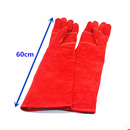 60cm Anti-bite safety protective gloves for Catch dog,cat,reptile,snake,animal Pets thick long leather red60cm Anti-bite safety protective gloves for Catch dog,cat,reptile,snake,animal Pets thick long leather red