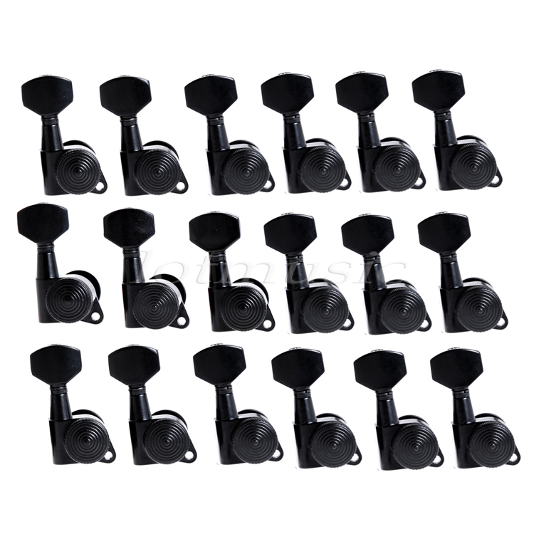 Tuning Pegs Keys Tuners Machine Heads for Guitar Parts Black 18 Right Inline 12l black sealed guitar tuning pegs tuners skull button guitar parts