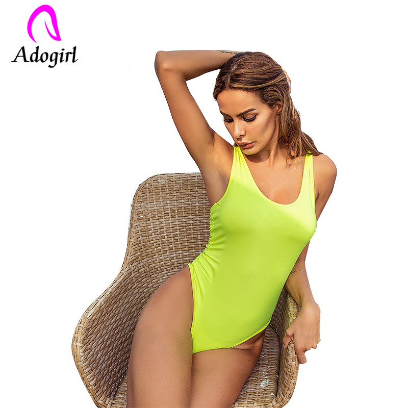 Analytical Adogirl Spaghetti Strap Fluorescent One Piece Bodysuit Sexy Tank Top Fluorescent Street Jumpsuit Epoptic Female Outer Vest Women's Clothing