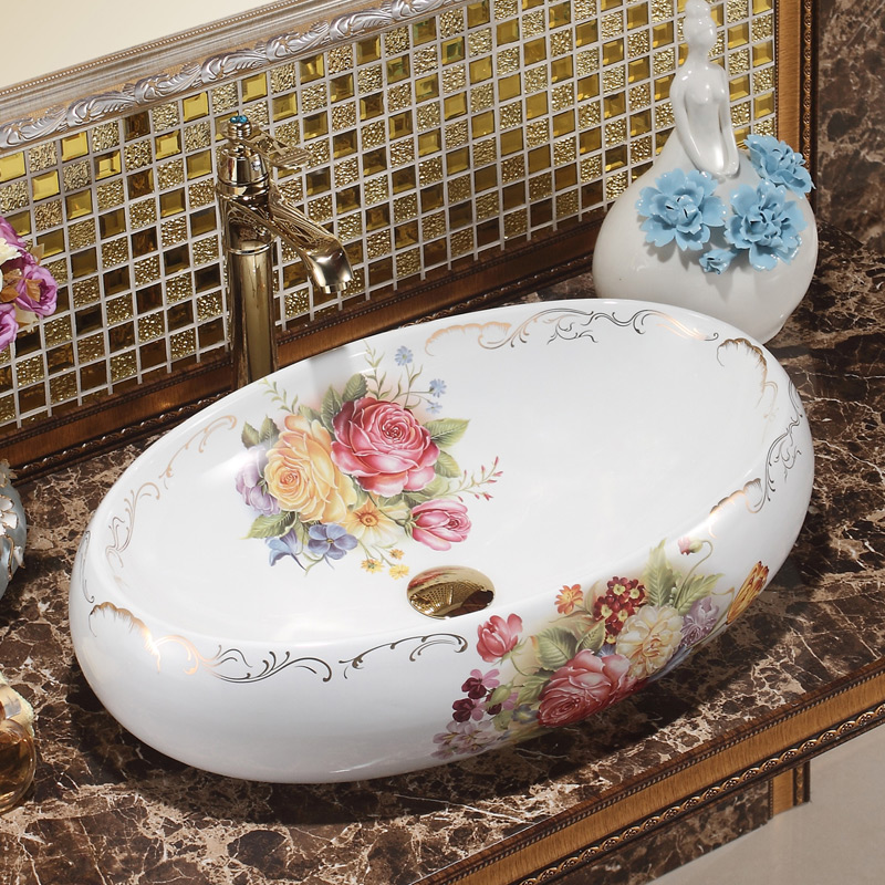 Aliexpress Com Buy Oval Bthroom Lavabo Ceramic Counter