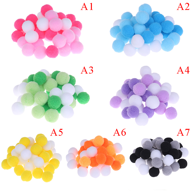 Shop For Cheap 40pcs/bag Diy Slime Beads Slime Supplies Accessories For Foam Slime Putty New Cute Soft Round Fluffy Ball Craft Pompoms Balls High Quality And Low Overhead Modeling Clay