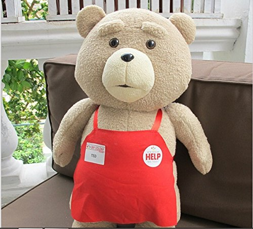 Teddy Bear Ted 2 Plush Toys Soft Stuffed Ted Bear Toys Dolls Halloween Carnival Cosplay  Costume