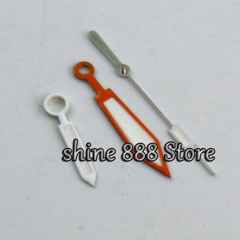 PLOPROF SUPER LUME naranja reloj manos para miyota 8205 8215 movimiento