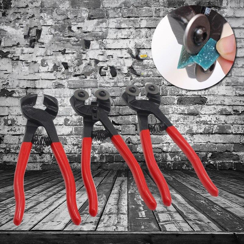 DIY Cortador de Bloco De Mosaico Telha Cerâmica Cortador De Duas Rodas Redondas Plana de Cristal de Vidro Cortador DIY Fio de Materiais de Arte e Artesanato descascador
