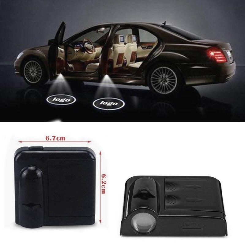 LED De Voiture D'ombre de Fantôme Porte Weclome Lumière Logo Projecto Pour Hyundai solaris i30 tucson 2017 ix35 creta accent voiture style