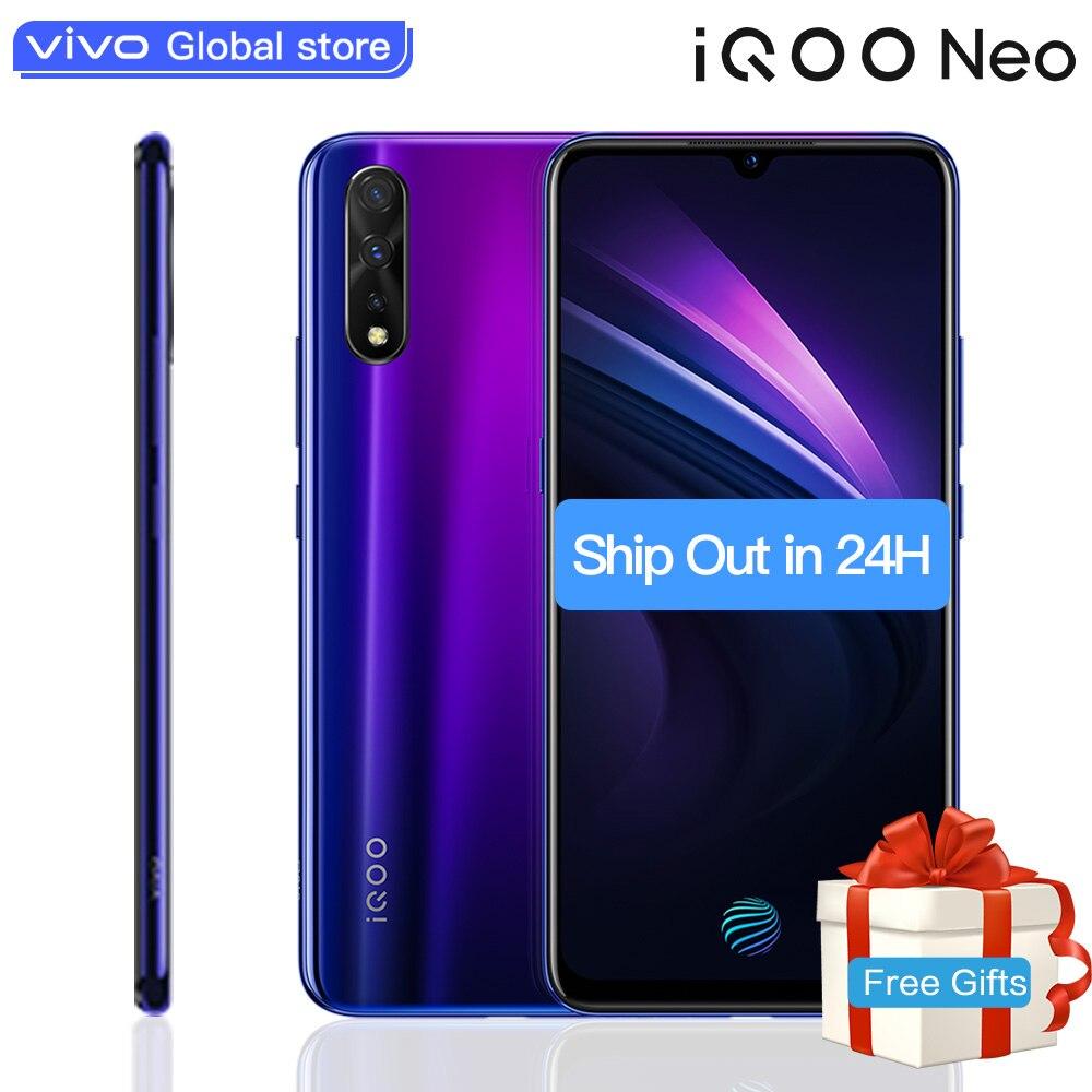"Original vivo IQOO Neo smartphone 6GB 128GB Android 9 Snapdragon 845 4500mAH 3 Cameras Super Amoled 6.38"" Screen Mobile Phone"