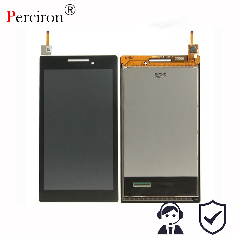 New 7'' inch LCD Display + Touch Screen Digitizer Assembly Replacements For Lenovo Tab 2 A7-10 A7-10F Free shipping + Frame new 10 1 inch parts for asus tf701 tf701t lcd display touch screen digitizer panel full assembly free shipping
