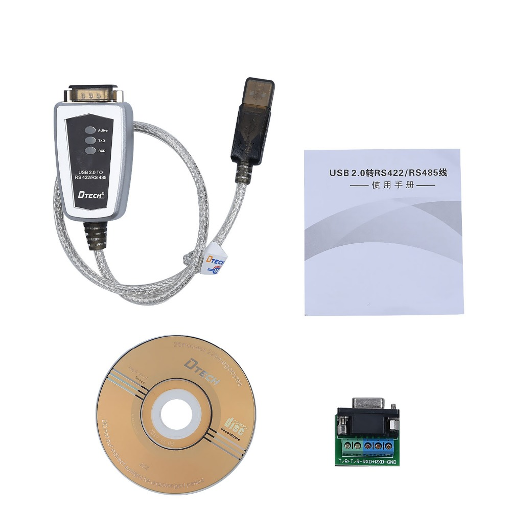 DTECH USB to RS485 RS422 Serial Converter Adapter Cable FTDI Chip Windows 10 8 7