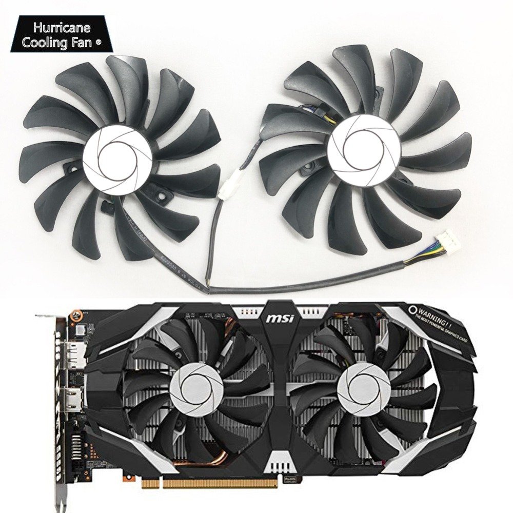 85MM HA9010H12F-Z Graphics Card Cooler <font><b>Fan</b></font> for MSI GeForce <font><b>GTX</b></font> 1050 1060 <font><b>960</b></font> Hurricane GTX1060 Hurricane 6G P106 P106-100 GTX960 image