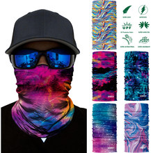 3D Galaxy Print Seamle Balaclava Scarf Neck Warmer Neck Gaiter Half Face Mask Head Bandanas Shield Headband Headwear Men Women(China)