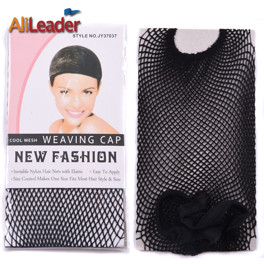 10 Pieces Open End Black Mesh Net Wig Cap Black Wig Hair