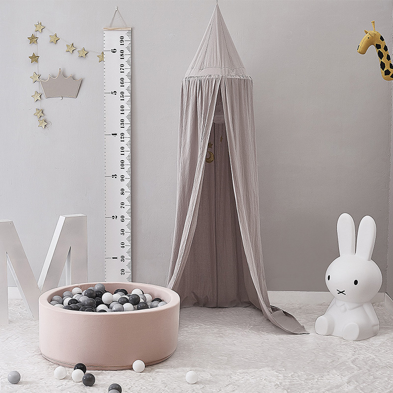240cm Baby Room Decoration Home Bed Curtain Round Crib Netting Baby Tent Cotton Hung Dome Baby Mosquito Net Photography Props ...