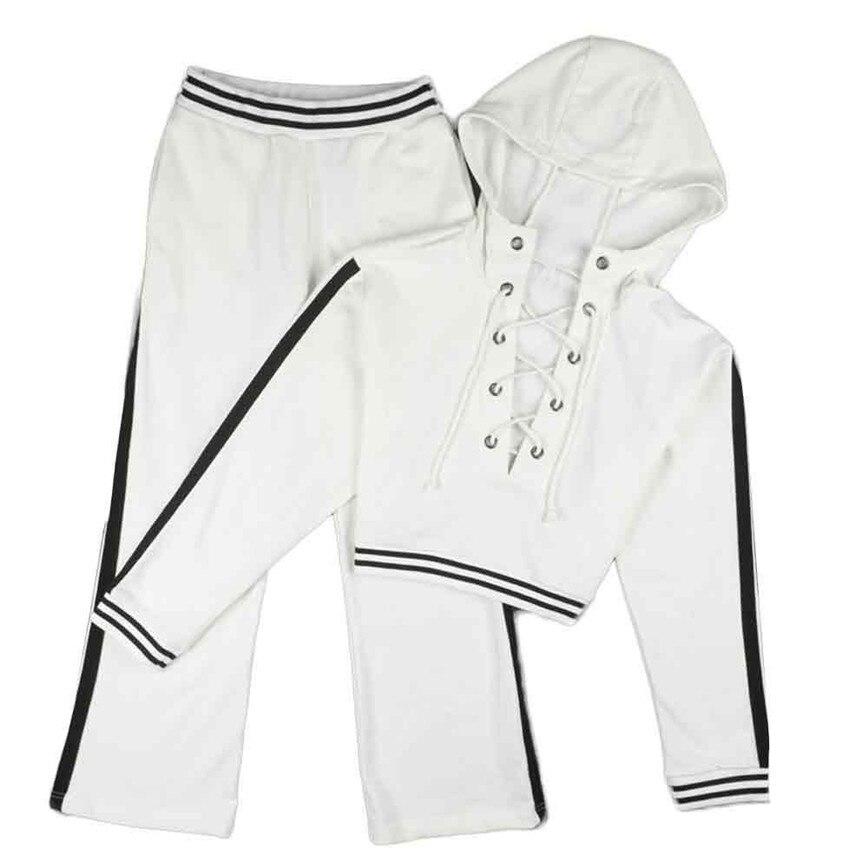 11 11 2017 new arrivals Women Hoodie Sweatshirt Long Sleeve Blouse Shirt Pants Outfit Set #42