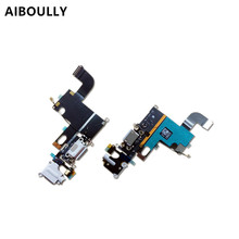 NEW 1:1 USB charging port + headphone socket assembly FLEX  for iphone 6g 4.7/6S charge plug FLEX CABLE