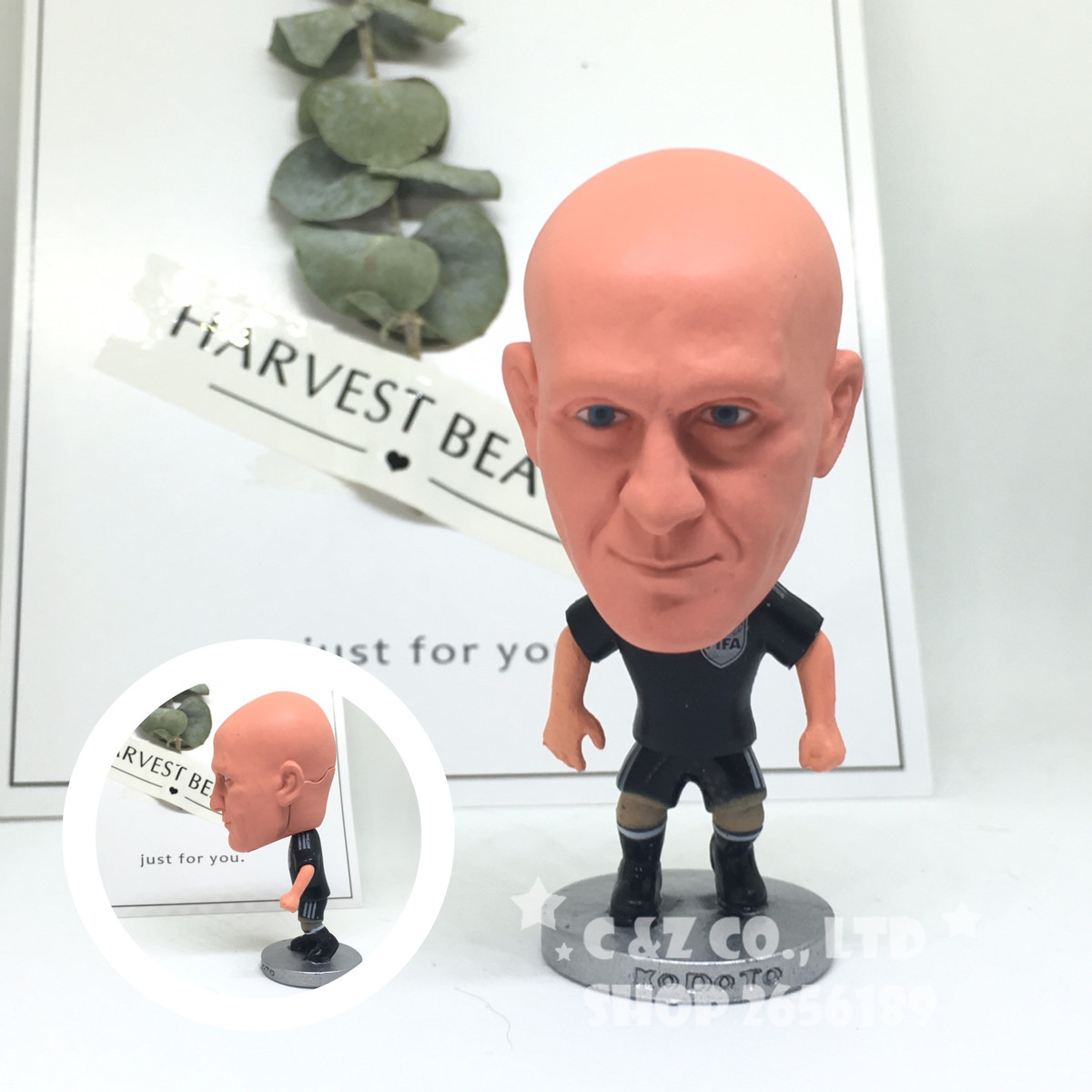Soccerwe figurine football Classic Collina Movable joints resin model toy action figure dolls collectible gift soccer figurine football stars competition classic brazil cup world cup model toy action figure ornament dolls collectible gift