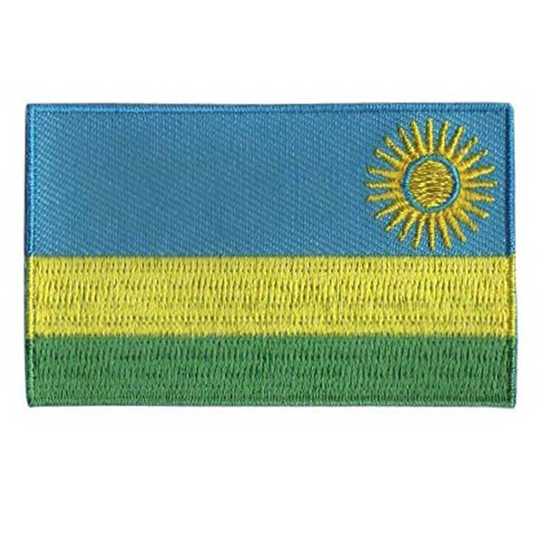 2.5,area over 80%,005,Rwanda,100pcsbag,MOQ50pcs,embroidery patch,merrow & flat broder,iron on backing,free shipping by Post