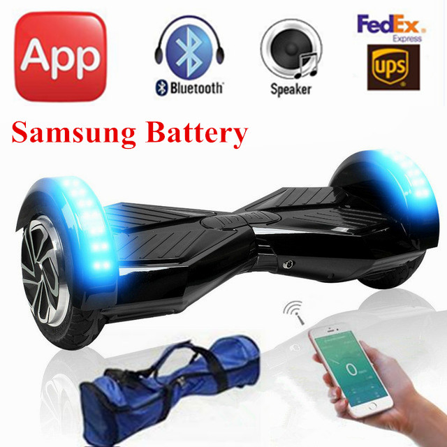 8 inch app smart electric scooter unicycle 2 wheel self. Black Bedroom Furniture Sets. Home Design Ideas