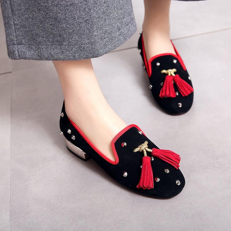 ФОТО Plus szie 9.5 Women's Genuine Leather Flat Loafers Design River Fashion Moccasins High Quality Fringe Slip-on Comfort Espadriles