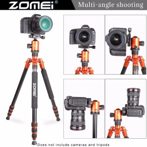 Image 2 - Zomei Z818 Portable Professional Aluminum Travel Camera Tripod with quick release plate monopod flexible tripod legs