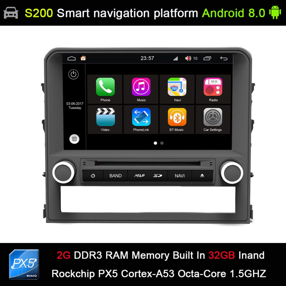 Android 8.0 System PX5 Octa 8 Core CPU 2G Ram 32GB Rom Car DVD Player Radio GPS for Toyota Land Cruiser 200 LC200 2016