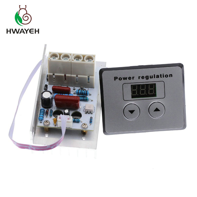 AC 220V 10000W 80A Digital Control SCR Electronic Voltage Regulator 10-220V Speed Control Dimmer Thermostat + Digital MetersAC 220V 10000W 80A Digital Control SCR Electronic Voltage Regulator 10-220V Speed Control Dimmer Thermostat + Digital Meters