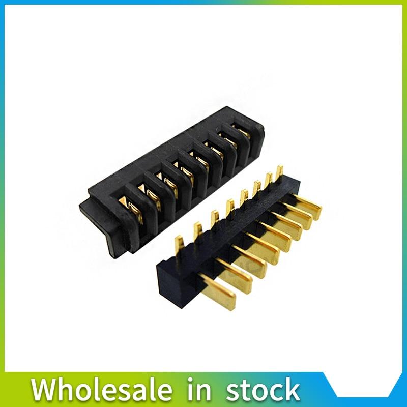 2 stücke gute qualität 8Pin Innere Batterie Anschluss Halter Clip Kontaktieren port ersatz männlichen und weiblichen für laptop telefon