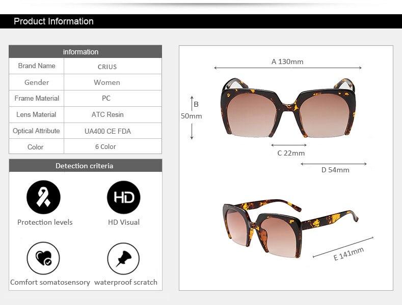 D новые квадратный женские солнцезащитные очки для женщин солнцезащитные  очки полукадра Марка дизайнер Ретро Винтаж Óculos де золь c1cef2d8895