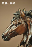 Horse ornaments, resin crafts, imitation wood carvings, home decorations, souvenirs(A907)