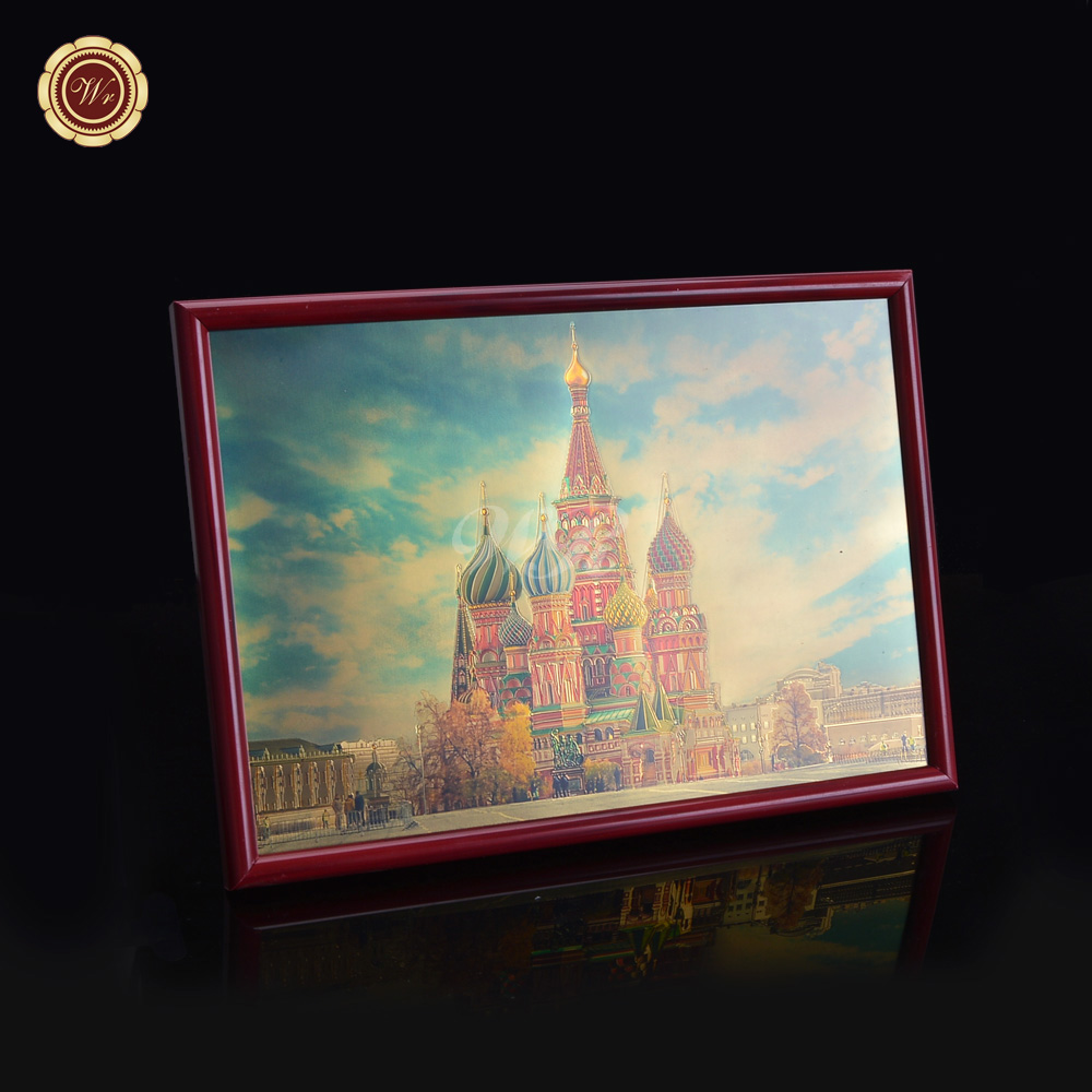 russian castle painting colored silver foil paper