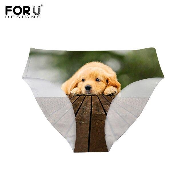 Forudesigns lindo al por mayor del gato impresión Bragas mujeres  transpirable Pantalones divertido Ropa interior de 2760ee207933
