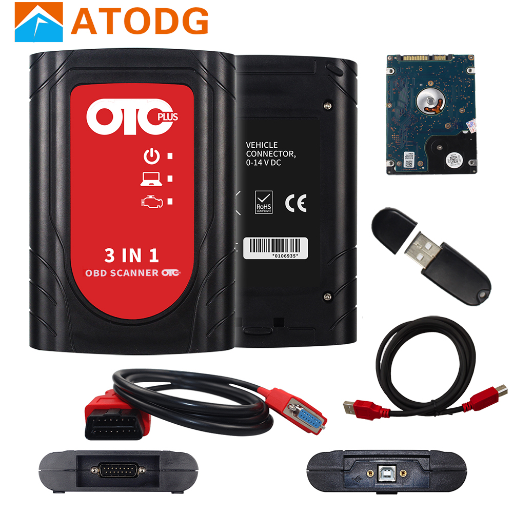 OTC Plus 3 in 1 Diagnostic Tools For nissan consult For toyota Intelligent Tester For volvo vida dice OBD Scanner GTS With HDD-in Car Diagnostic Cables & Connectors from Automobiles & Motorcycles on
