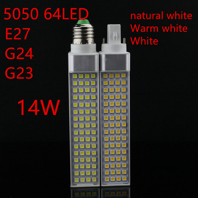 5 W 7 W 9 W 11 W 12 W 14 W E27 G24 G23LED Bulbo De Milho Bombillas lâmpada de Luz SMD 5050 Spotlight 180 Graus AC85-265V Ficha Horizontal luz