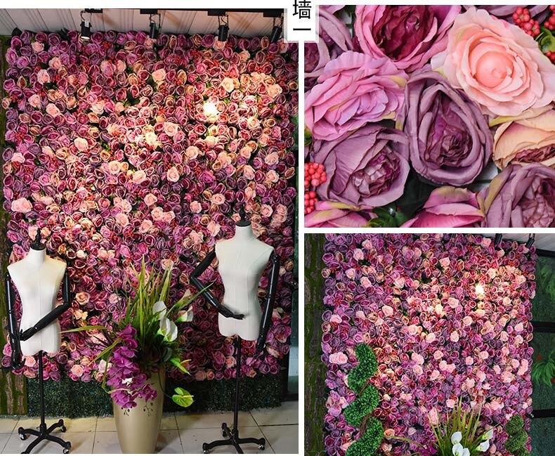 TONGFENG 8pcs lot Artificial silk rose peony 3D flower wall wedding backdrop decoration flower runner wedding