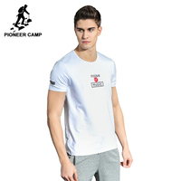 Pioneer Camp New T Shirt Men Brand Clothing Fashion Summer T Shirt Male Top Quality 100
