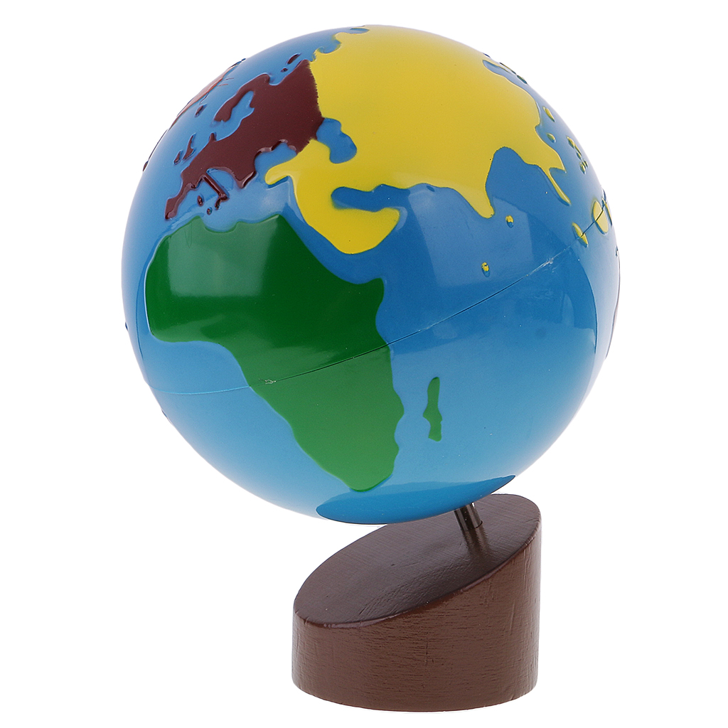 New Montessori Geography Material-Globe of World Parts Baby Early Learning Toys for Children Birthday Xmas Gift Collection