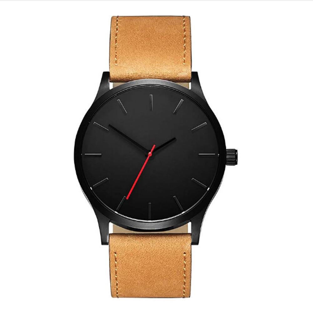 Ανδρικό ρολόι με δερμάτινο λουράκι msow