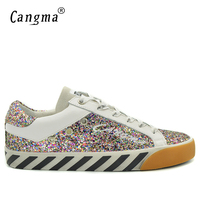 CANGMA British Style Men Famous Brand Footwear Glitter Pink School Shoes Male Genuine Leather Handmade Sequined