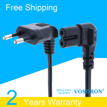 EU CEE7/16 extension cord,  Figure 8 C7 AC power cord EU type right angled 90 degree for samsung Philips Sony LED TV 1M/1.8M/3M