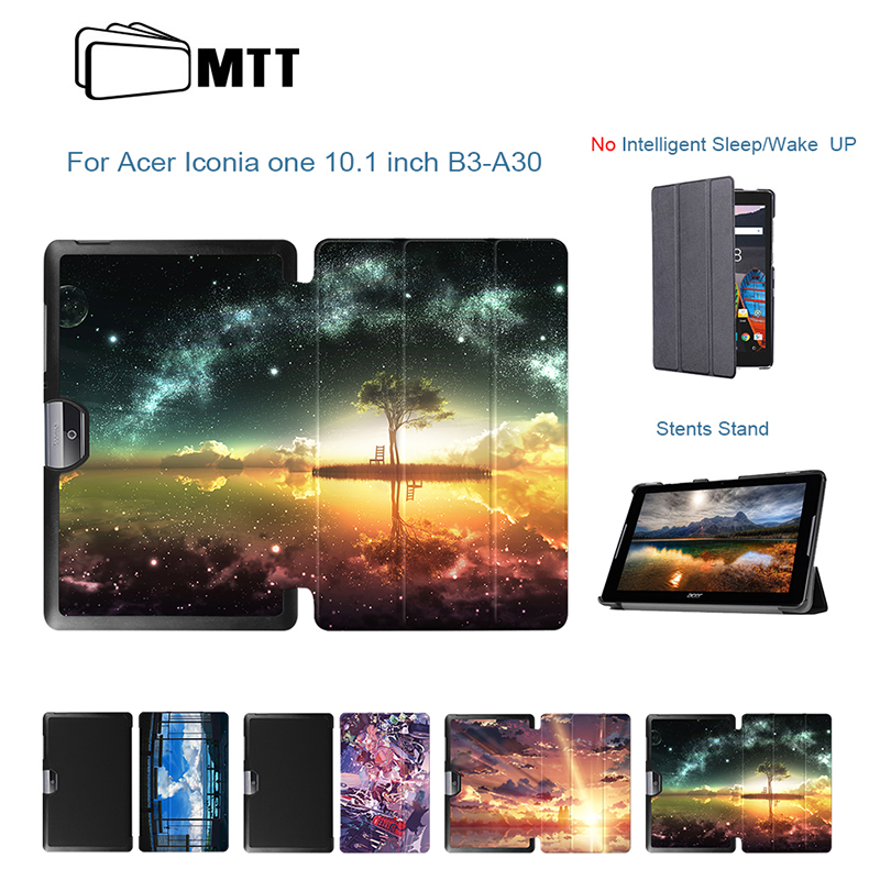 MTT Ultra Slim Magnetic PU Leather Anime Sky Skin Sleeve For Acer Iconia One 10 B3-A30 A3-A40 10.1 Tablet Protection Cover Case ultra slim flip cover for acer iconia one 10 b3 a30 a3 a40 funda cases protective stand cover shell skin gift screen protector