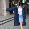 Бесплатная доставка новая версия парень ретро ветер пальто с капюшоном свободные размер джинсовая куртка ветровка ковбой Девушка