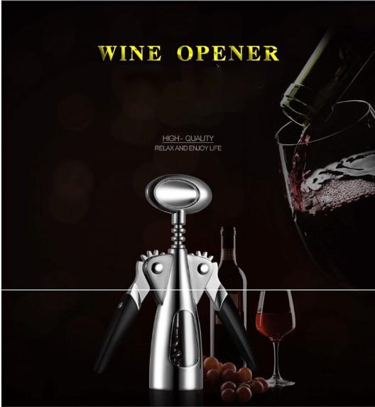 Red wine stopper Zinc alloy stainless steel wine bottle opener multi-function creative opener bottle opener wholesale. фото