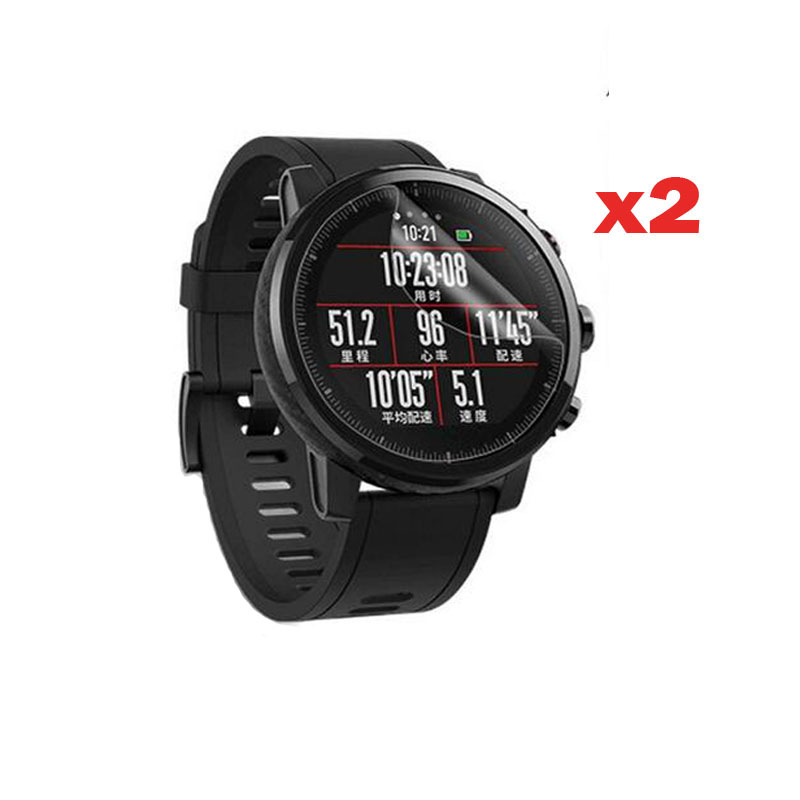 2pcs TPU Soft Clear Protective Film Guard For Xiaomi Huami Amazfit Pace Stratos 2/2S Watch Screen Protector Cover (Not Glass)