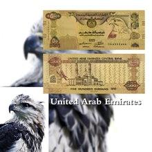 Los Emiratos Árabes Unidos 500 Dirham billetes Thinkstock papel de copia de papel de dinero de color de oro conmemorativa en billetes