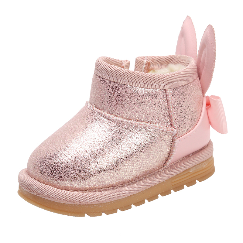 2019 New Winter Toddler Shoes  Baby Girls Cotton Shoes Warm Soft Bottom Snow Boots Kids Boots Girls