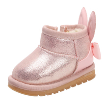 Toddler Shoes Kids Boots Baby-Girls Winter New Warm Soft-Bottom Cotton