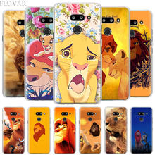 Lion King Simba Ponsel Case untuk LG G6 G7 Plus G8 Thinq V40 V50 Thinq Q6 Q7 Q8 Hard Pc case Coque(China)