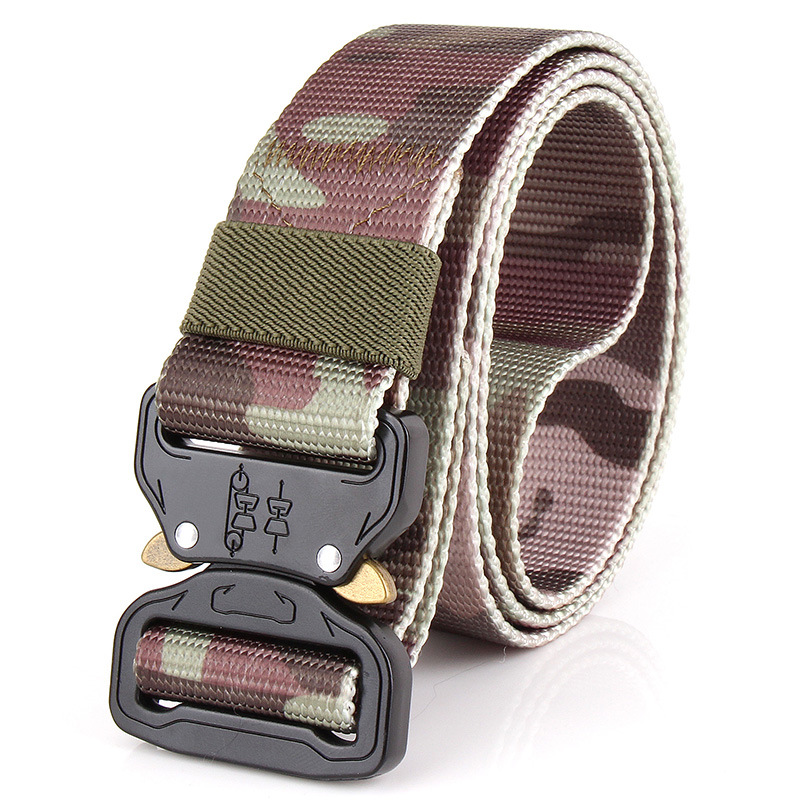 Special woven outer special forces tactical nylon nylon military belt camouflage clothing as training belt military tactical nylon shotgun belt camouflage deep green