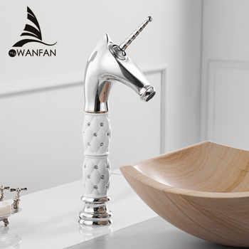 Basin Faucets Unique Fashion Bathroom Horse Head Faucet Chrome Brass Deck Mounted Single Long Handle Bath Basin Faucet 855756 - DISCOUNT ITEM  40% OFF All Category